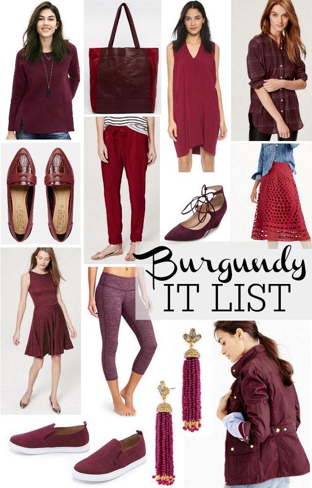 burgundy fall pieces for your outfits