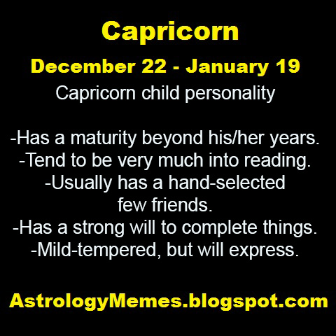 Learn your little one's Capricorn characteristics