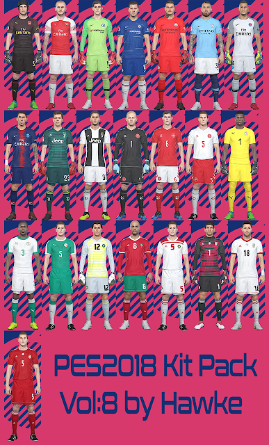PES 2018 Kitpack vol 8 Season 2018/2019 by Hawke