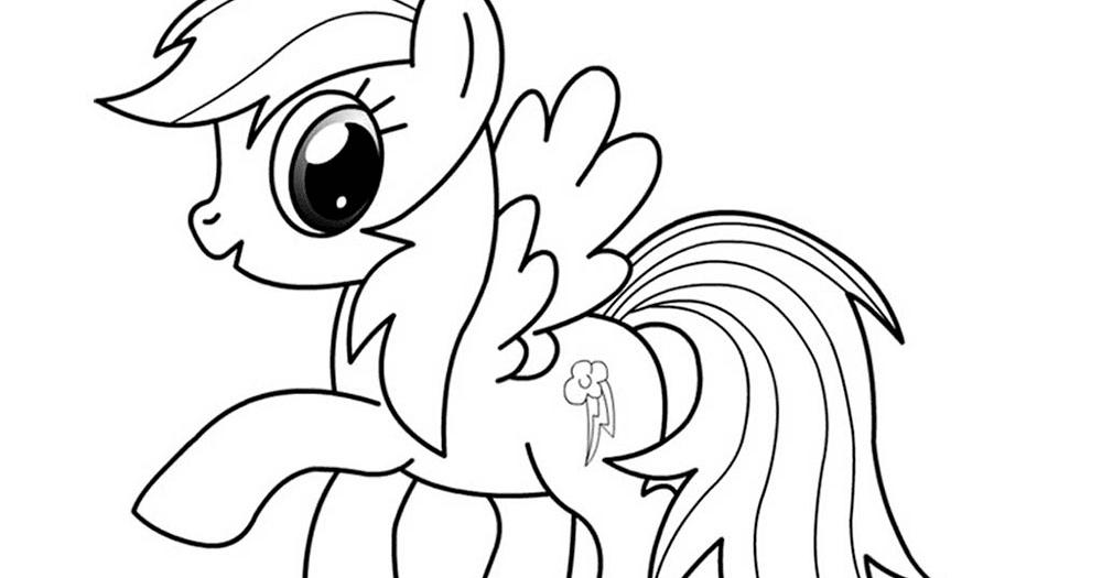Mewarnai Kuda Poni Rainbow Dash B Warna