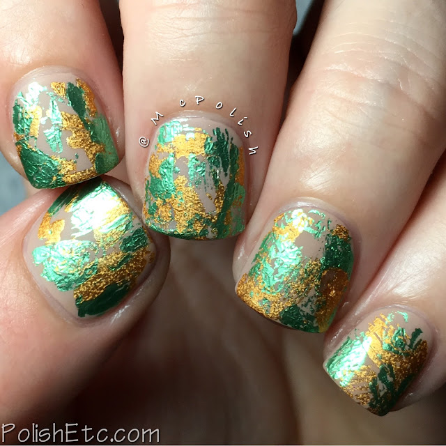 Green and Gold Nail Foils for the #31DC2016Weekly - McPolish