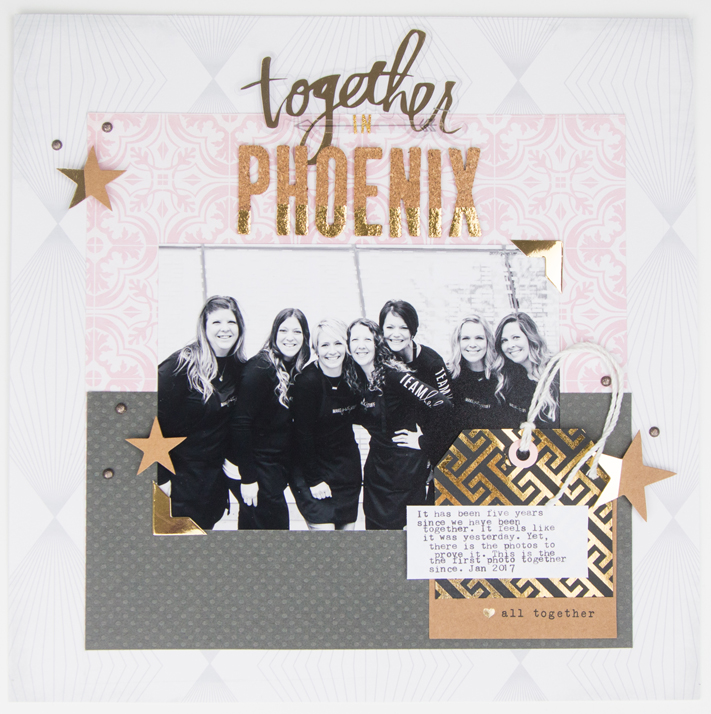 Heidi Swapp Magnolia Jane scrapbooking layout by @createoften for @heidiswapp