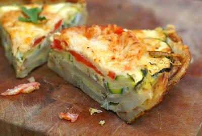 Healthy Potato Bacon Crust Quiche
