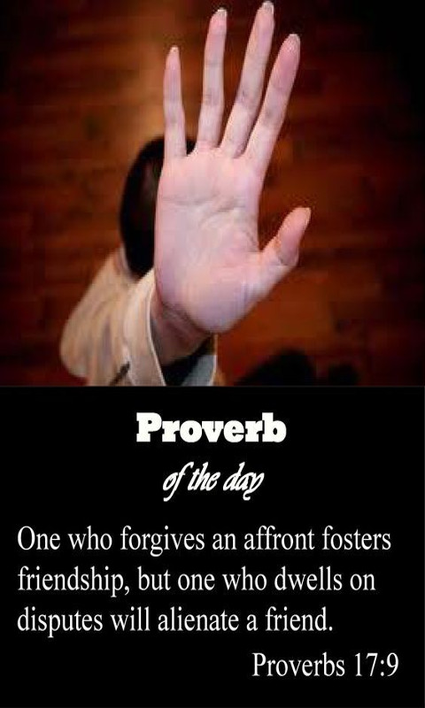 Whoever would foster love covers over an offense,     but whoever repeats the matter separates close friends.