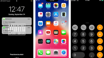 Download Tema iPhone X untuk Oppo Smartphone A37, A57, A71