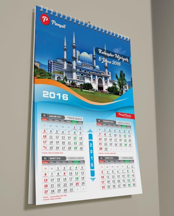 kalender hijriyah dengan tanggalan jawa Indonesia 2016