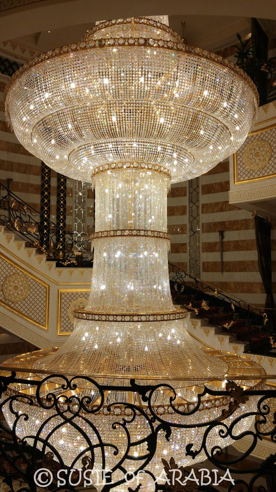 Jeddah daily photo jeddah waldorf astoria chandeliers this hotel has the biggest crystal chandelier i have ever seen which extends three stories and is surrounded by a staircase the photos just dont do it aloadofball Gallery