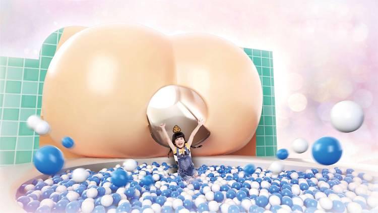 Un parque infantil en Hong Kong que simula el aparato digestivo