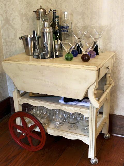 tea cart makeover after