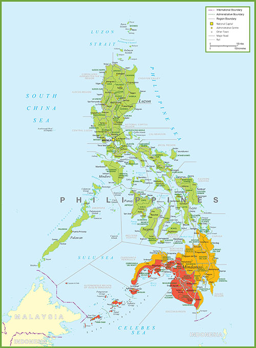 Map of Philippine Provinces, Cities and Towns
