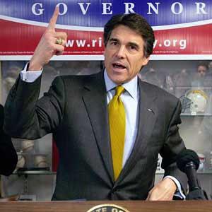 Presidentkandidaten rick perry hoppar av