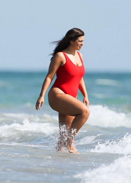 Ashley Graham on a Jetski in Miami