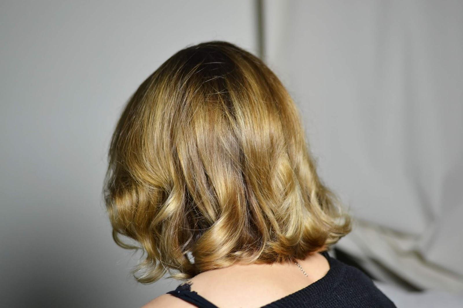 włosy przed i po blog
