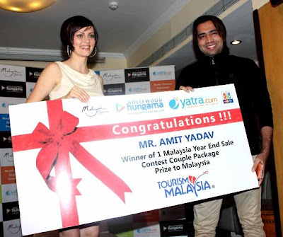 Yana Gupta With Bollywood Hungama Contest Winners
