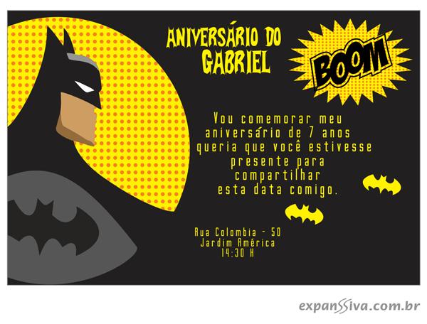convite batman png