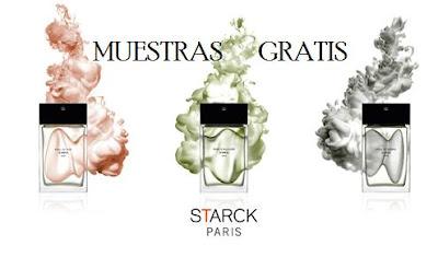 muestras gratis perfume starck paris