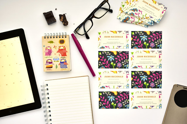 blogger business cards by Minted
