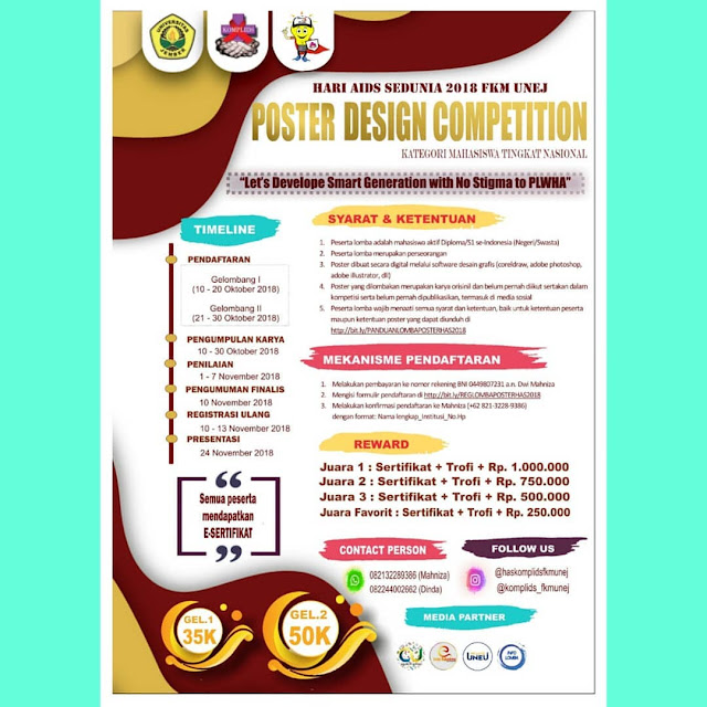 Contest Poster Design Competition 2018 UNEJ