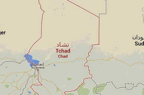 Peta Negara Chad