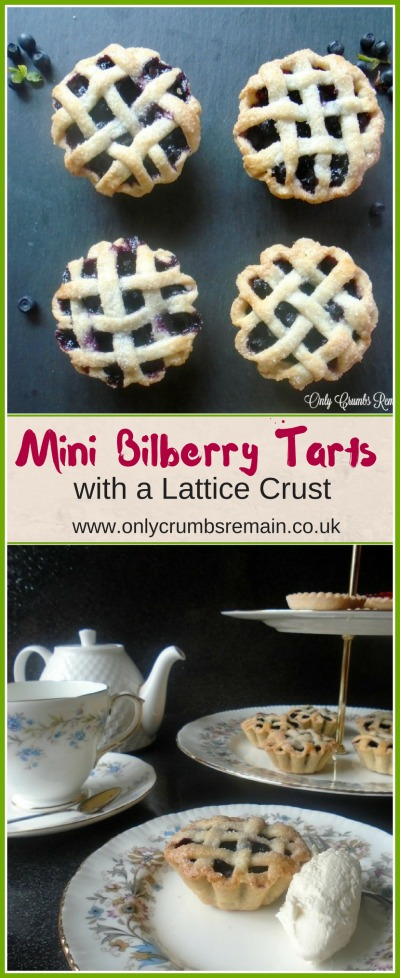 These mini bilberry tarts with a lattice crust were perfect served with afternoon tea.