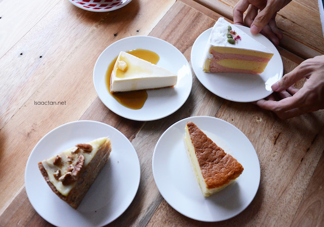 Various delicious cakes to indulge in, at P.S. Tokyo