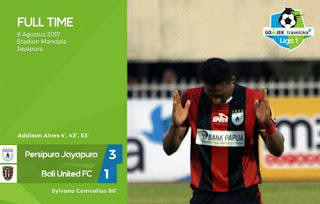 Persipura Jayapura vs Bali United 3-1 Hasil Liga 1 Rabu 9 Agustus 2017