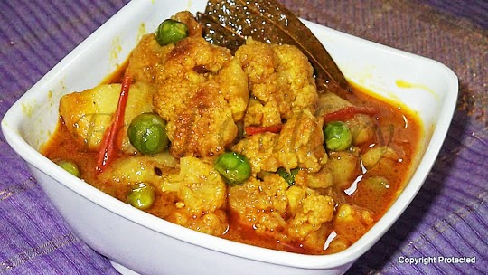aloo gobi, potato-cauliflower curry