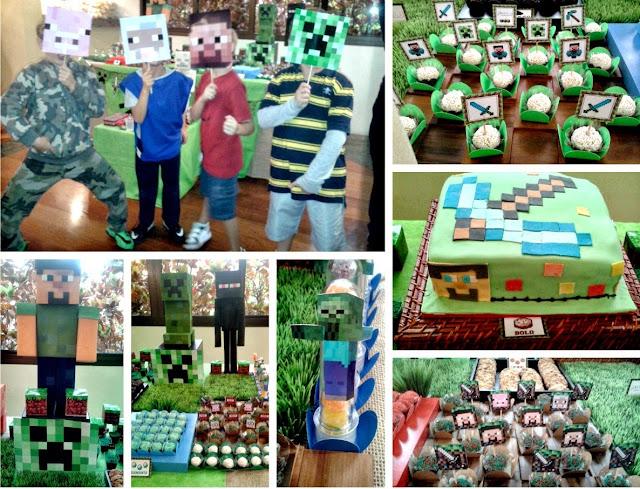 01 minecraft festa infantil