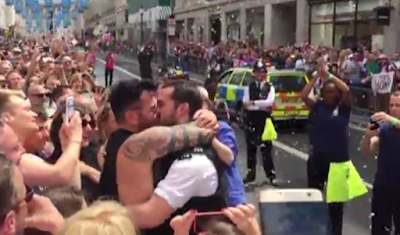Policeman who proposed to boyfriend at Gay Pride says he 'wished he hadn't'