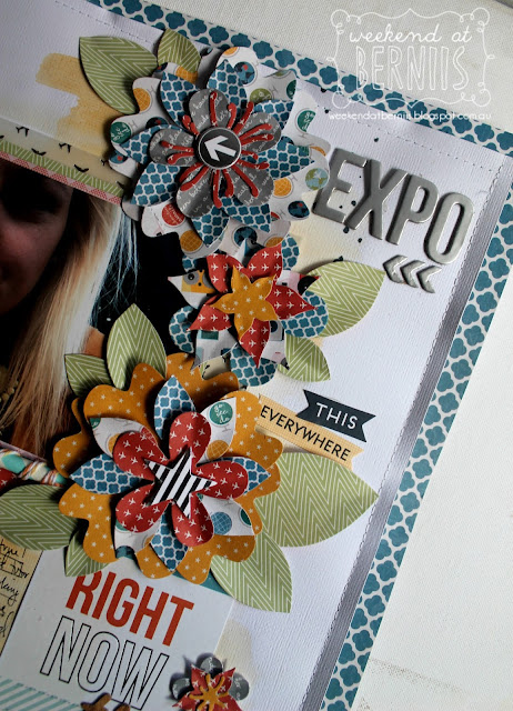 """Expo"" layout by Bernii Miller using the Pink Paislee Atlas collection"