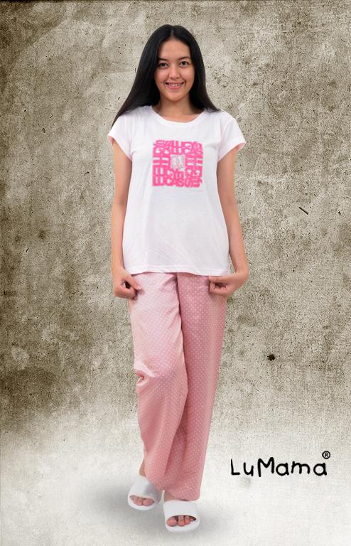 Kaus Pendek Celana Panjang