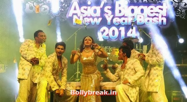Rakhi Sawant performing at The Country Club, Dubai, Country Club New Year Bash 2014