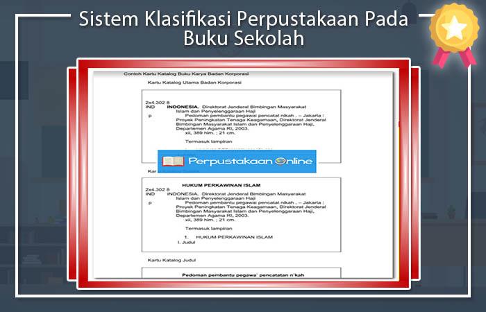 Sistem Klasifikasi Perpustakaan Pada Buku Sekolah