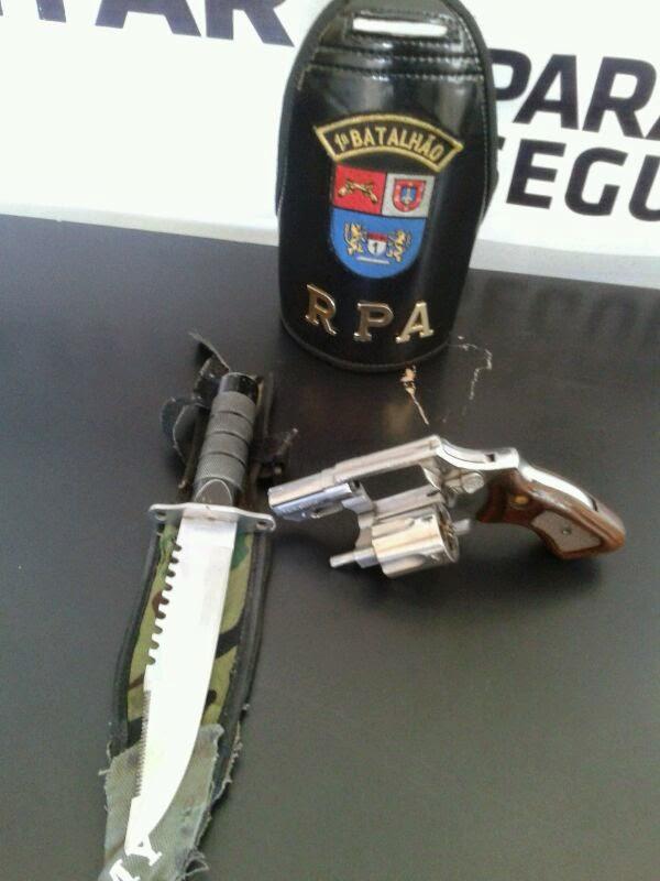 Arma apreendida com paçoca em Castro, blog de castro noticias de castro