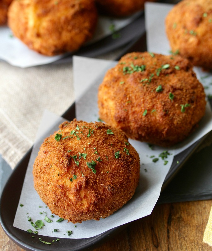 Shrimp Stuffed Cuban Potato Balls