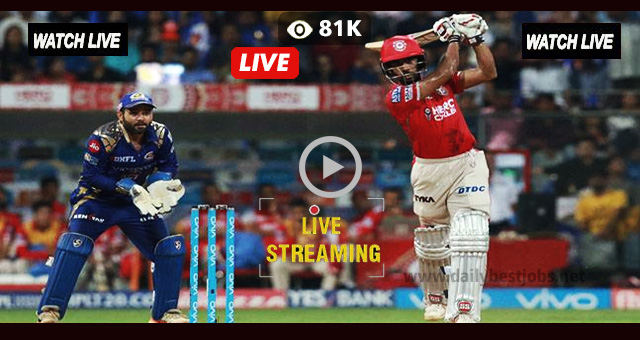 IPL Live Streaming KXIP vs MI Live Cricket Score Online