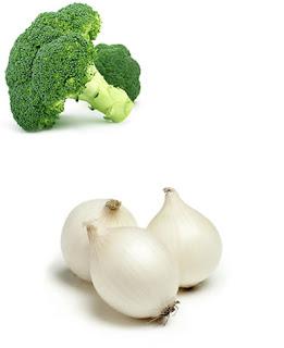 brocoli cebolla y pimienta