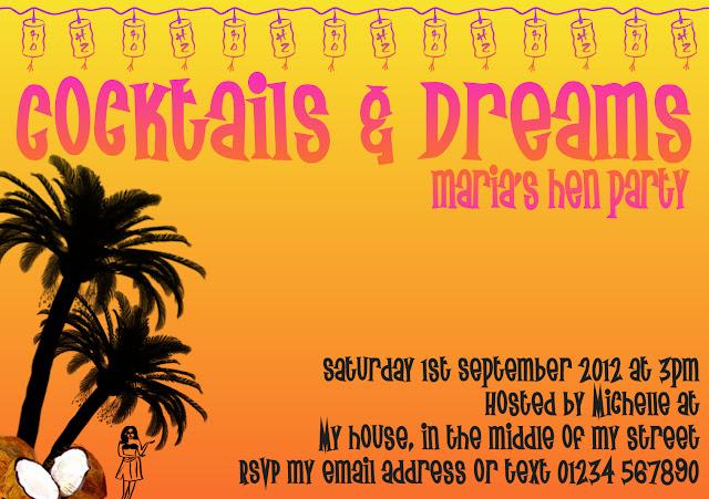 Hen Night Invitations {Cocktails & Dreams Hen Party}
