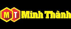 logo công ty quảng cáo minh thành tại hải phòng, có tông màu chủ đạo là đỏ và vàng