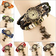 Shopclues - Vintage Bangle Bracelet cum Quartz Leather Watch Gift - CatchMyCoupon - Daily Offers