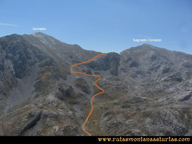 Ruta Macondiú, Samelar y Sagrado Corazón: Desde la cima del Macondiú, Samelar y Sagrado Corazón