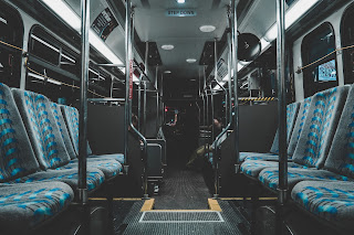 Riding on the bus to work - my daily commute