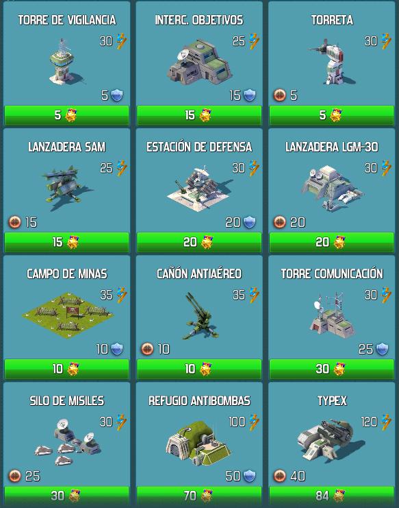 Estructuras de Base que mejoran nuestro ataque y defensa