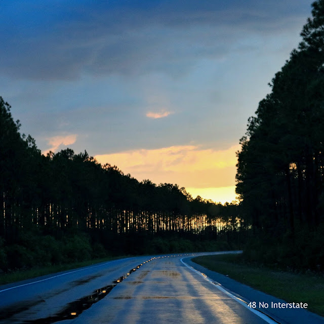 driving into the sunset, Highway 98, Florida