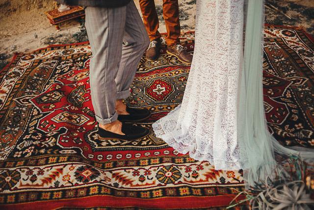 boda bohemia peonias folk alfombras decoración boho