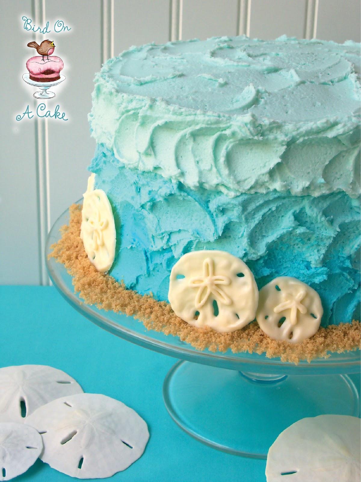 http://birdonacake.blogspot.com/2012/07/ombre-beach-cake-with-chocolate-sand.html