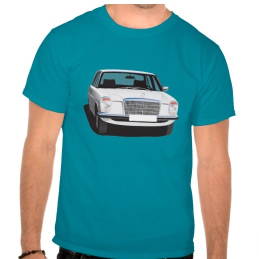 Mercedes-Benz w114 w115 white t-shirt