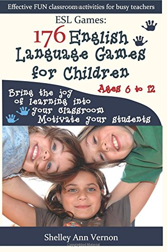 English language games for children, book for ESL teachers