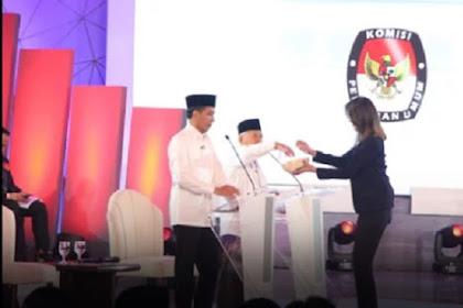 Debat Pilpres, Ma'ruf Amin Irit Bicara Paling Semangat Ambil Undian Pertanyaan