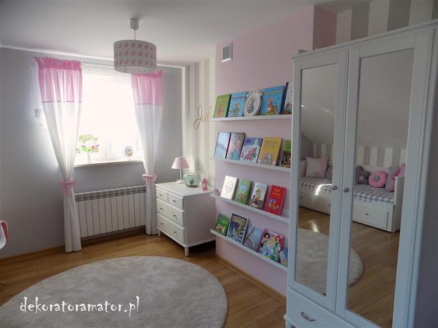 pokój dziecięcy, pokój dziecka, pokój dziewczynki, pokój ucznia, pasy, ikea
